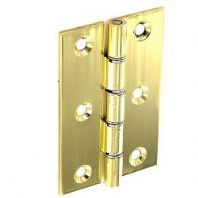 Securit Polished D.S.W. Brass Hinges (Pair) - 75mm